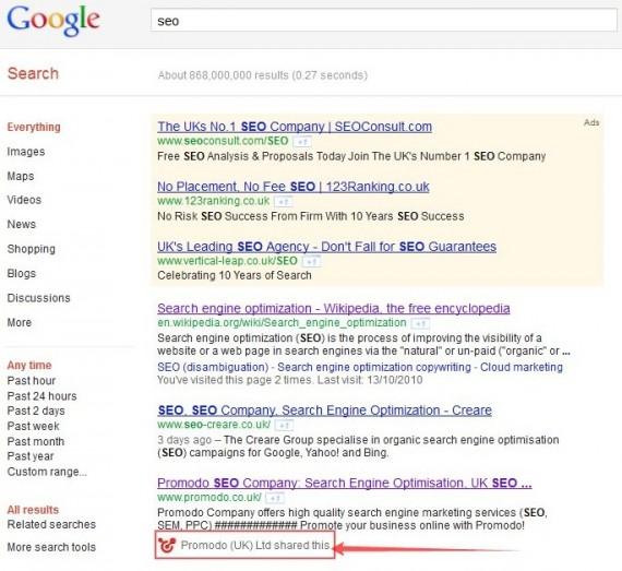 Поисковая выдача Google по запросу SEO